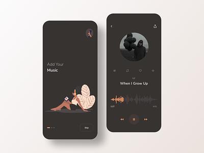 Music App music app webdesign music illustration app shot dribbble designer web ux ui