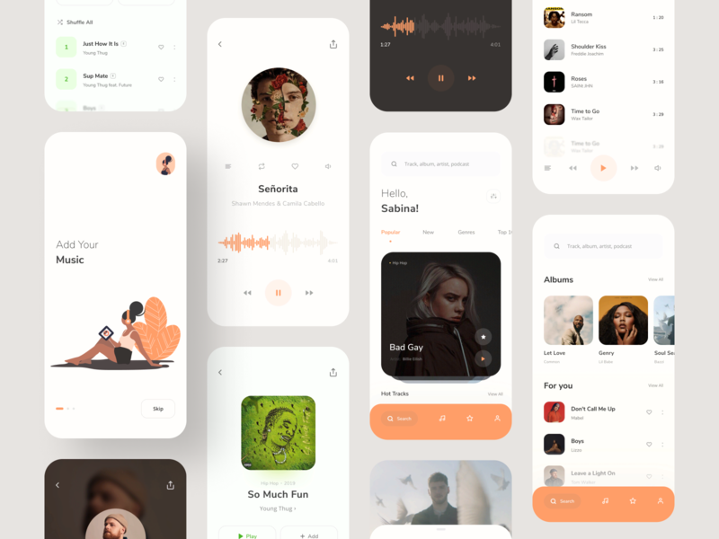 Music App - UI Map web shot designer illustration app dribbble mobile app mobile music player ux ui music