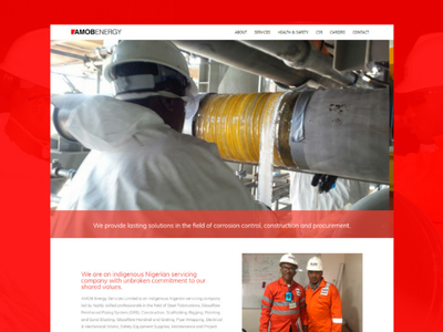 Website Design for AMOB Energy web userinterface website
