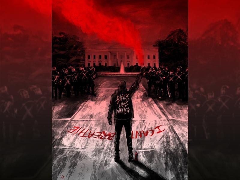 I CAN'T BREATHE! #blacklivesmatter usa police activism protest artist art photo manipulation vector blacklivesmatter illustration