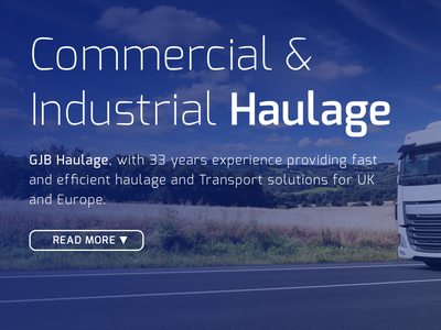 GJB Haulage one page website design lorry transport haulage