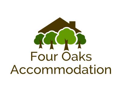 Four Oaks Accommodation design website brand logo