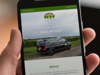 Four Oaks Cars design responsive mobile