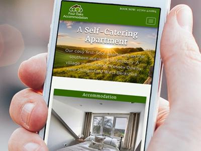 Four Oaks Accommodation responsive design website logo