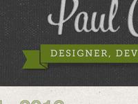 Paul Cripps .Com Re Design 2012 - Second Attempt