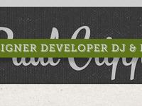 Paul Cripps .Com Re Design 2012   Second Attempt 002
