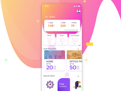 Mobile Operator Apps design adobe experience design uxdesign uidesign adobexd