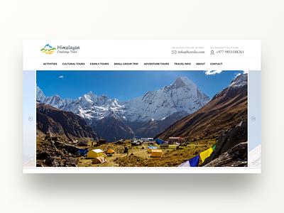 Himalayan Challenge Treks trek white animation website ui invite hello travel minimal landing