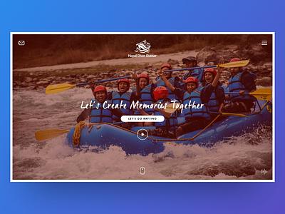 Redesign Concept - Nepal River Runner website mobile trekking whitewater rafting adventure nepal web design ui travel