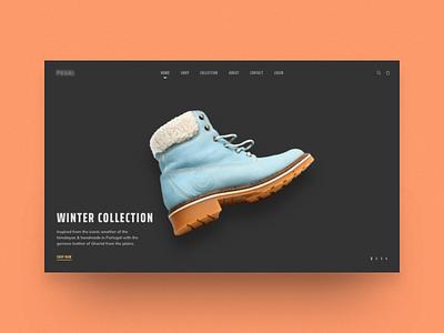 Shoes Ecommerce Landing banner collection ux ui landing shop nepal web design website ecommerce