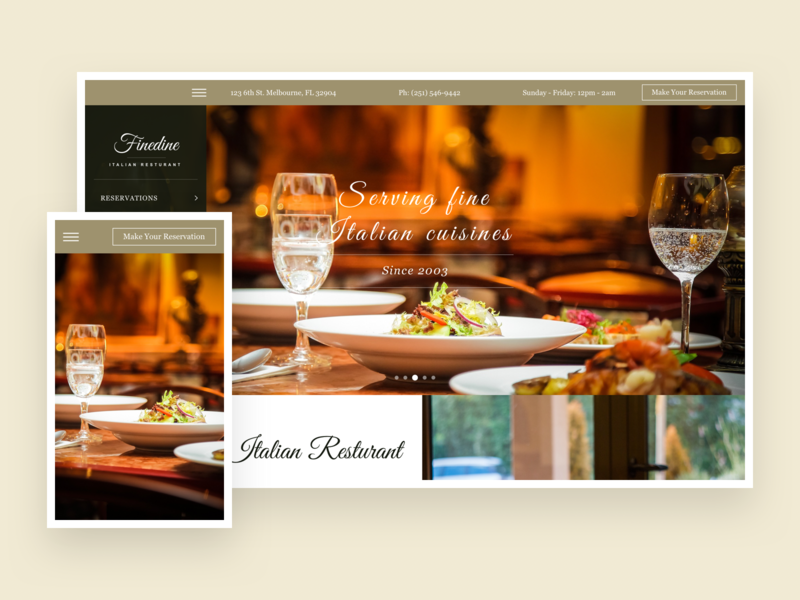 Finedine - Restaurant & Cafe WordPress Theme download freebies freebie theme for wordpress wordpress blog theme wordpress landing website ux ui