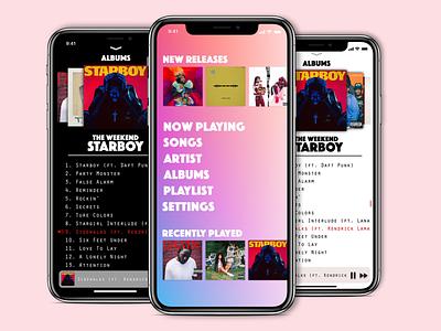 Apple Music Re-Design new redesign ios invisionstudio music