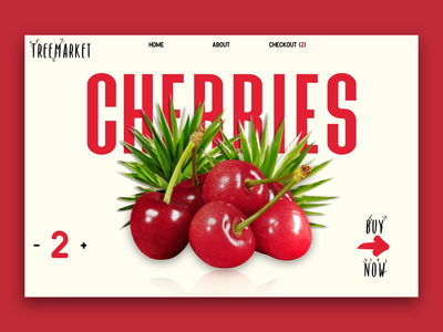 Webpage Item Select sale market checkout purchase buy now cherries food red webdesign web design web