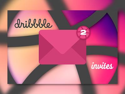 2 Dribbble Invites! dribbblepros pink dribbbleinvite invite invites