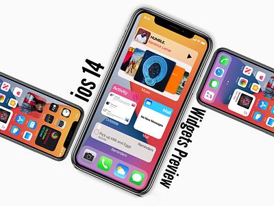 iOS 14 Widgets ideas ux design mobile app design uikit ui design widgets invisionstudio ios wwdc iphone ios14