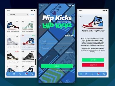 FlipKicks Shoe Marketplace nike jordan sell buy sneaker head sneakers ios ux design uidesign