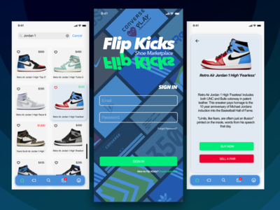 FlipKicks Shoe Marketplace nike jordan sell buy sneaker head sneakers ios ux design uidesign
