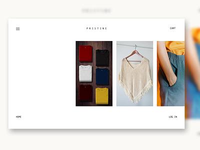 Web Store Design: Prototype in Description. lessismore simple clothes web design webstore