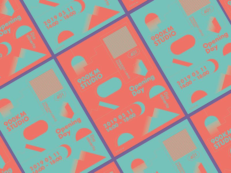 900km Studio, Poster Wall graphic design diseño gráfico studio de design art branding illustration typography poster design