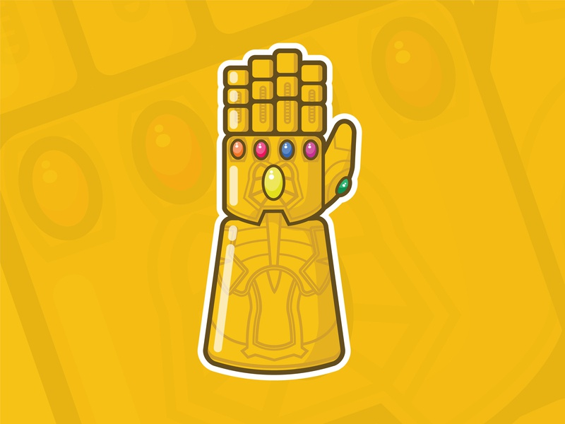 Infinity Gauntlet marvel glove gauntelet illustration avengers endgame vector thanos mcu comics infinity war infinity gauntlet
