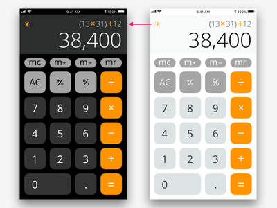 Daily UI 004 Claculator principle sketch calculator ios apple dailyui