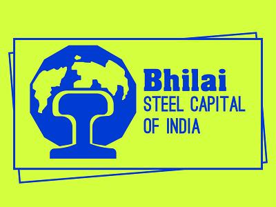 Bhilai - The steel capital of india logo vector graphics design