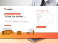 Landing Page design for IntuAd.com
