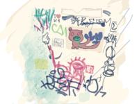 Bathroom graffiti I <3 W4