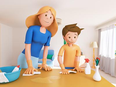 Monety Chore Dust Cleaning 3dmodel 3dsmax illustration v-ray 3drender