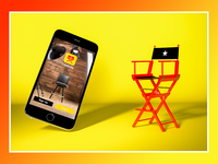 CastFolio iPhone6 Signup Screen with Makeup Chair