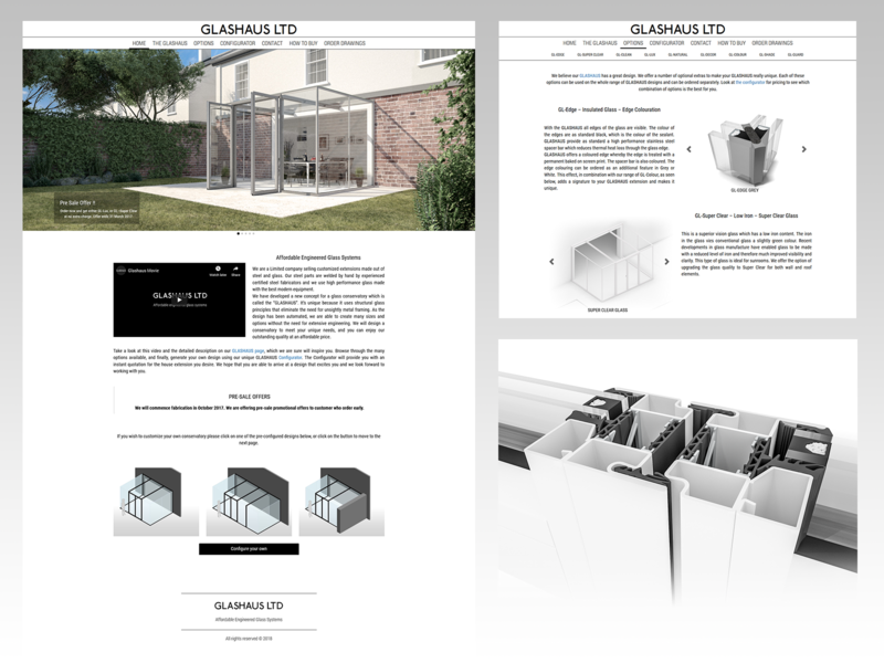 Glashaus 3D Renders + Web Design design illustration 3drender v-ray