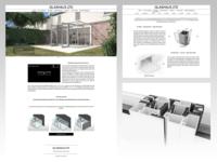 Glashaus 3D Renders + Web Design