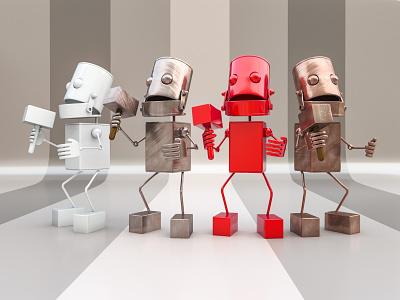 Wonderbot copper steel metallic metal character 3dmodel v-ray 3drender