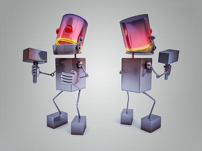 Wonder Hotrod metal paintjob 3dsmax character 3dmodel illustration v-ray 3drender