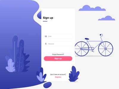 Bike Rental App - Sign Up