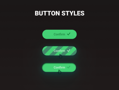 DailyUi: Button design ui web challenge dailyui dark button states button design button
