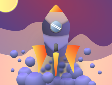 Rocket Illustration vector gradients illustration illustration art
