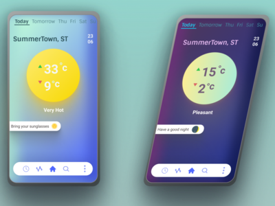 DailyUi: Weather App app dailyui figma uxdesign ui ux mobile weather app weather screen