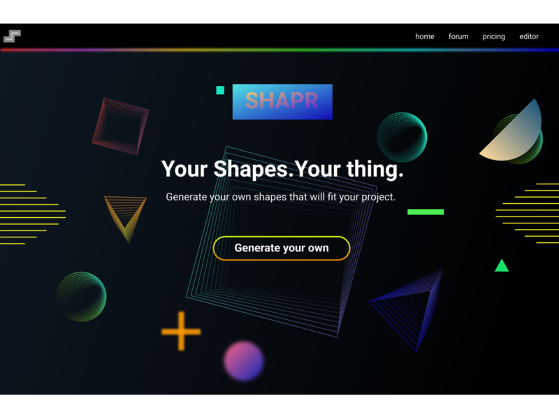 DailyUi: Shape Invasion challenge dailyui web ui landingpage figma shape elements gradients design shape shapes