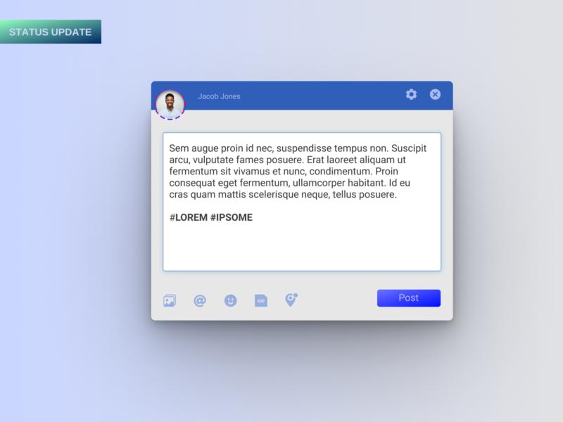DailyUi: Status Update uidesign status update challenge dailyui web ux ui
