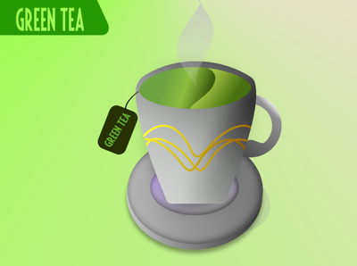Green Tea illustration art shapes vector illustration