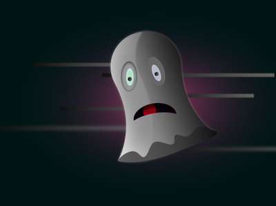 Scared Ghost art affinitydesigner vector illustration art illustration