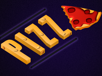 Pizza Isometric design illustration 3d typography pizza logo pizza