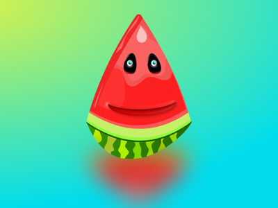 Fresh Watermelon character colorful watermelon vector illustration art illustration