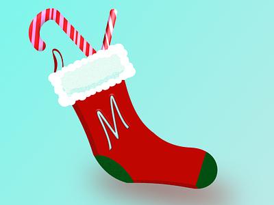 Christmas Sock illustration affinitydesigner vector design christmas