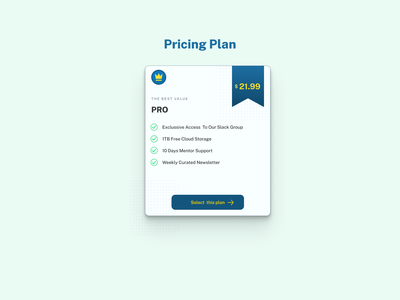 Pricing Card Design gradient design challenge ux web ui pricing card pricing plan