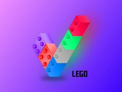 Lego Logo web icon gradient vector design logo design style lego logo