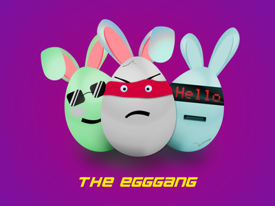 The Eggs design illustration graphic gradient affinitydesigner vector