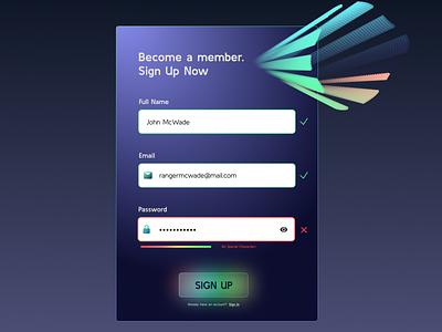 Sign Up Form Concept figma blob dark theme dark gradient design ui web form inputs signupform concept
