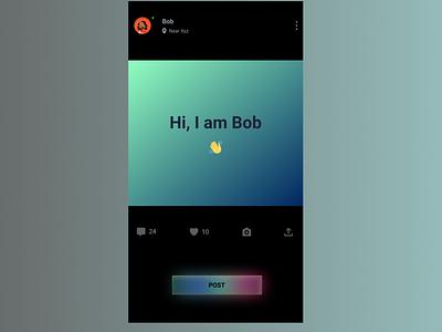 Dark UI Profile Card uidesign card dark ui gradient web ux design ui